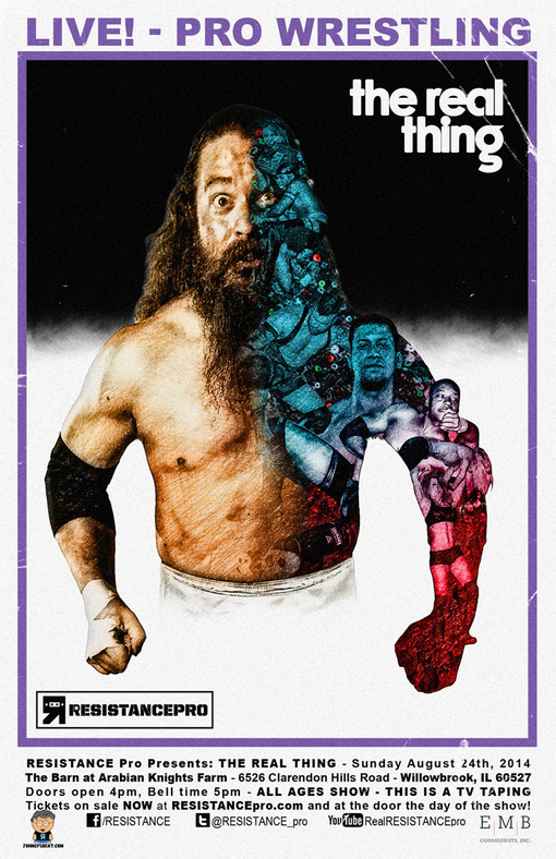 RESISTANCE PRO NEWS/PROMOTION RUNS IT'S FIRST TELEVISION TAPING THIS SUNDAY