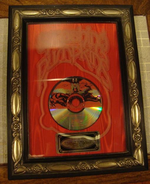"ORIGINAL ""SIAMESE DREAM"" PLATINUM RECORD PLAQUE ON EBAY! (PRESENTED TO JAMES IHA)"