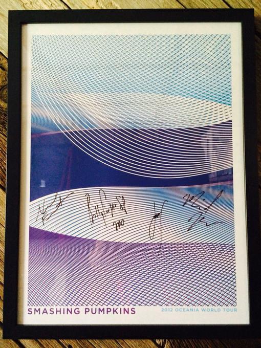"MEMORABILIA MONDAYS! ""Oceania World Tour"" Autographed VIP Poster"