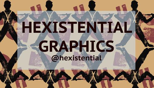 CUSTOM HEXISTENTIAL GRAPHICS TSHIRTS, FINE ART PRINTS, + TOTE BAGS!