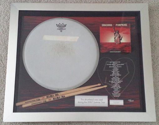 Memorabilia Monday: Jimmy Chamberlin Drum Head