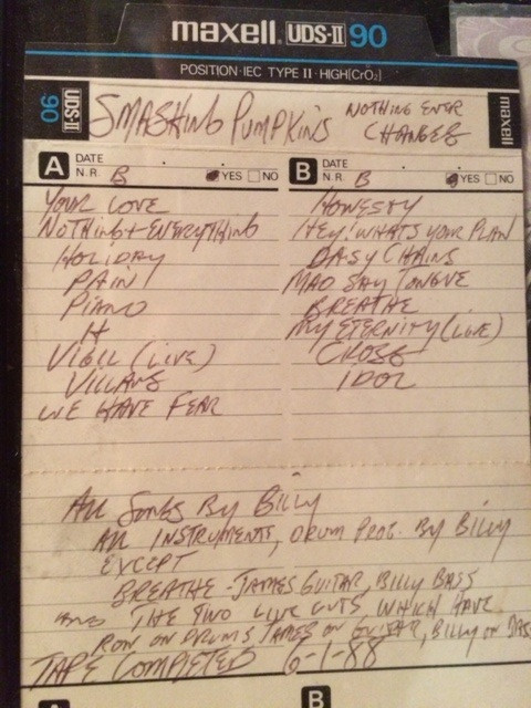 MEMORABILIA MONDAYS/A VERY, VERY EARLY SMASHING PUMPKINS DEMO TAPE FROM JUNE 1988