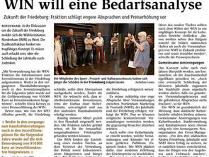 Friedeburg - verändertes Event-Management und konkrete Haushaltsmittelplanung