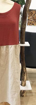 une robe d'été bi matière