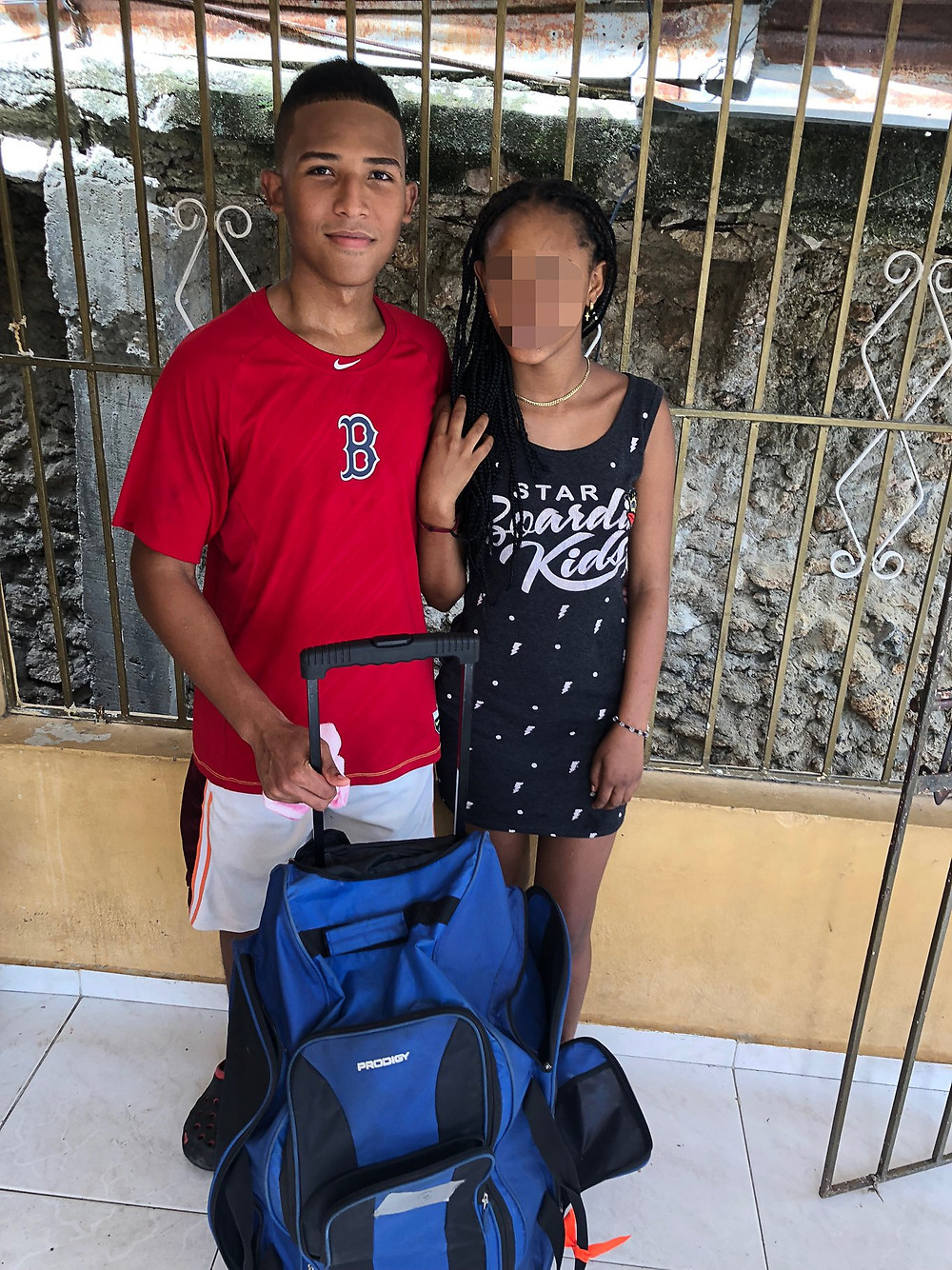 Reynaldo and *Sara shortly after her rescue