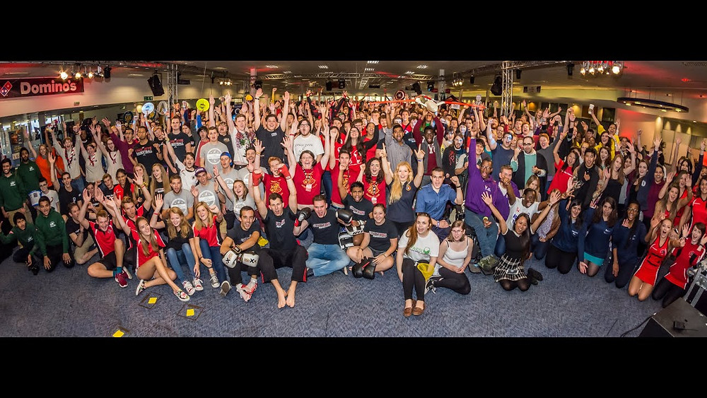 Group photo of the UWE freshers fair