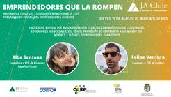 Emprendedores conversan con estudiantes de La Ligua y Cabildo