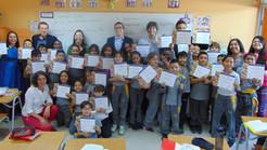 Diplomas para niños de Escuela Luis Galdames de Independencia