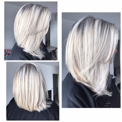 Blond blanc gloss froid