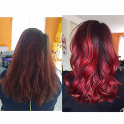 Coupe ombre hair rouge