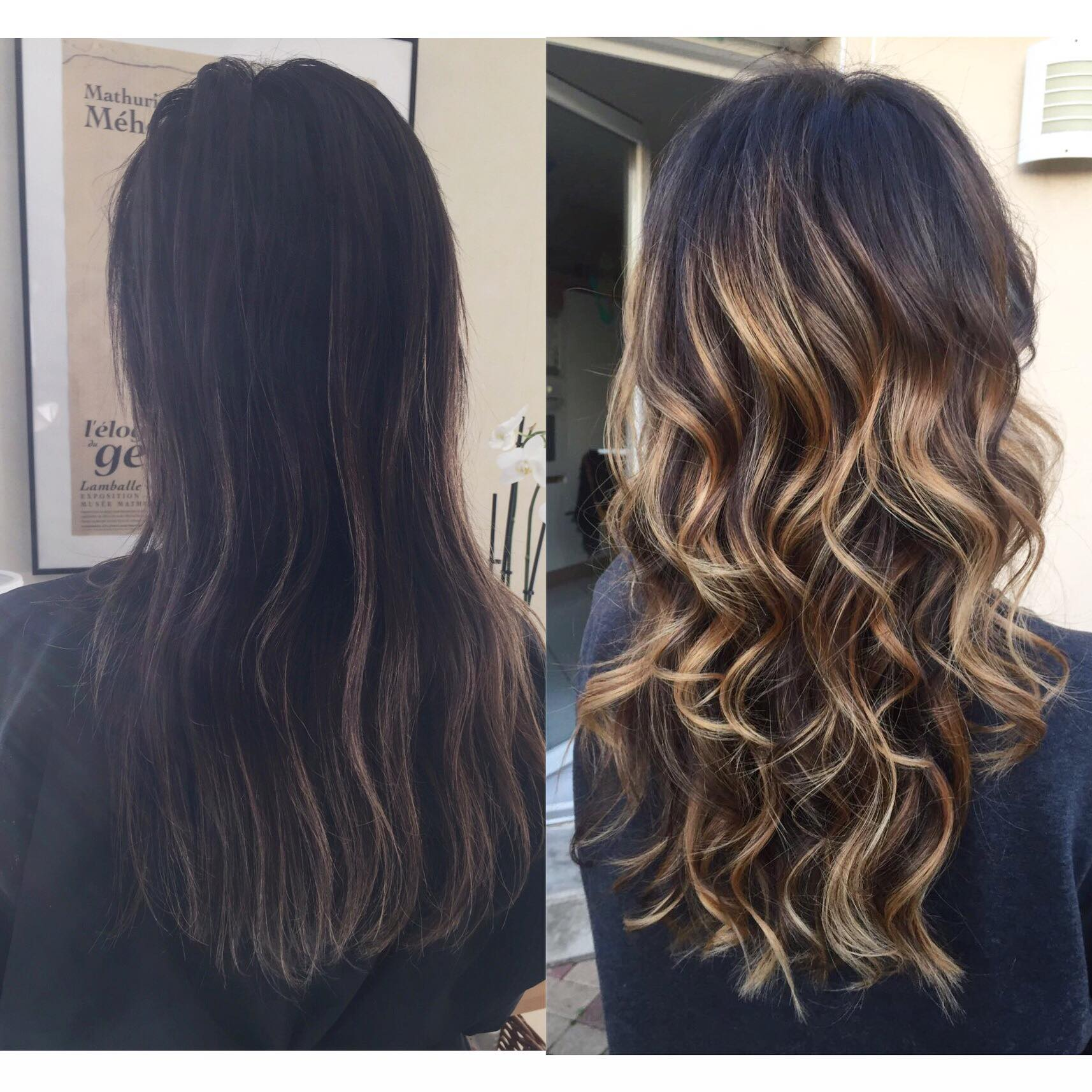 Coupe balayage transformation