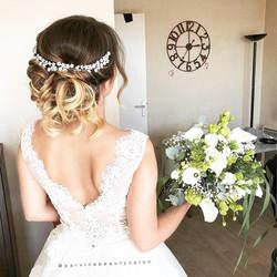 Chignon sur ma magnifique mariée