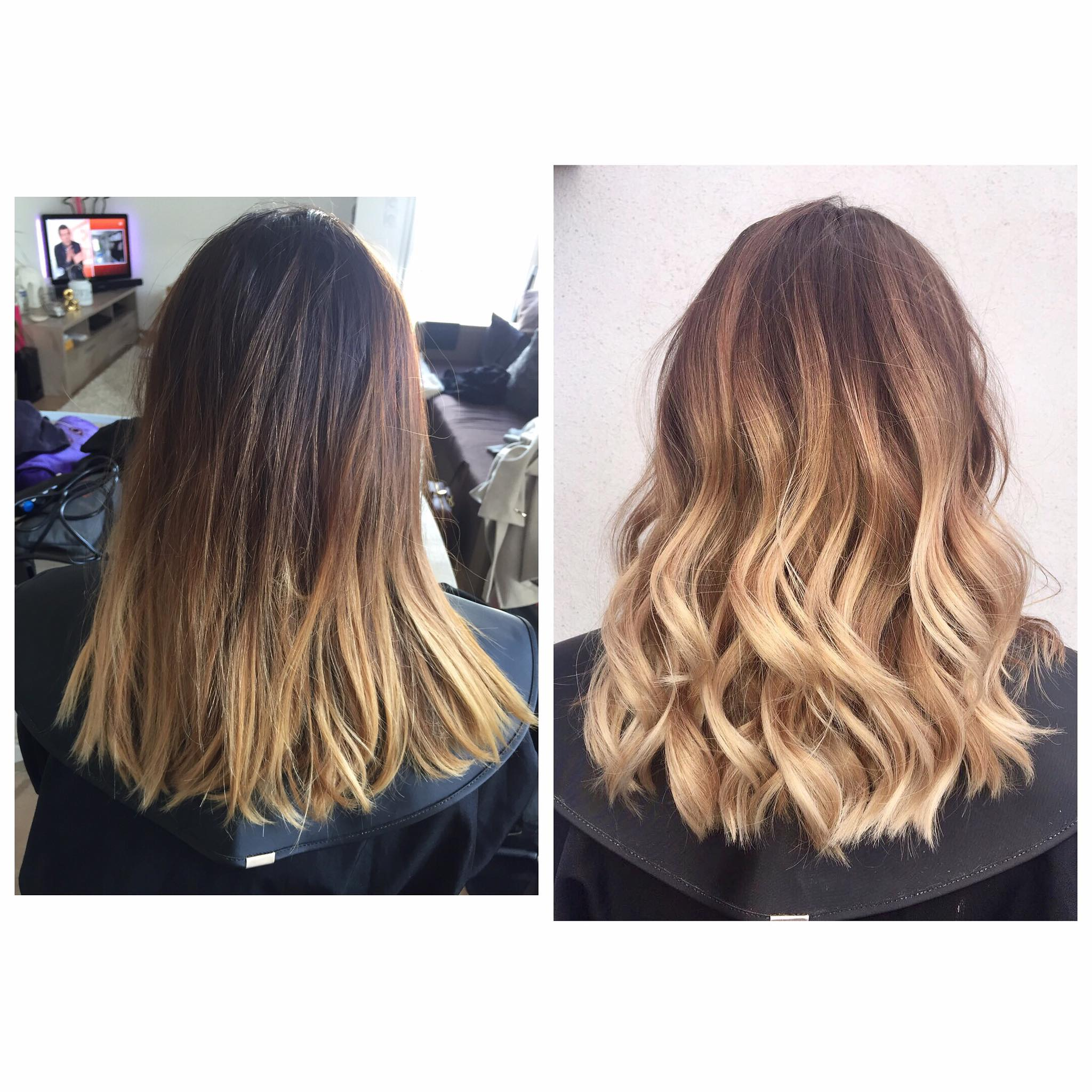 Coupe ombre hair gloss beige froid