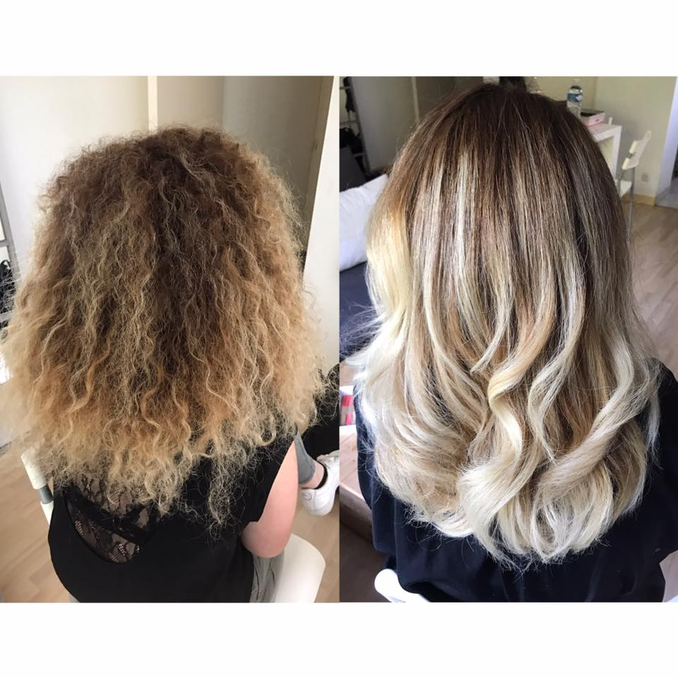 Coupe balayage soin profonf