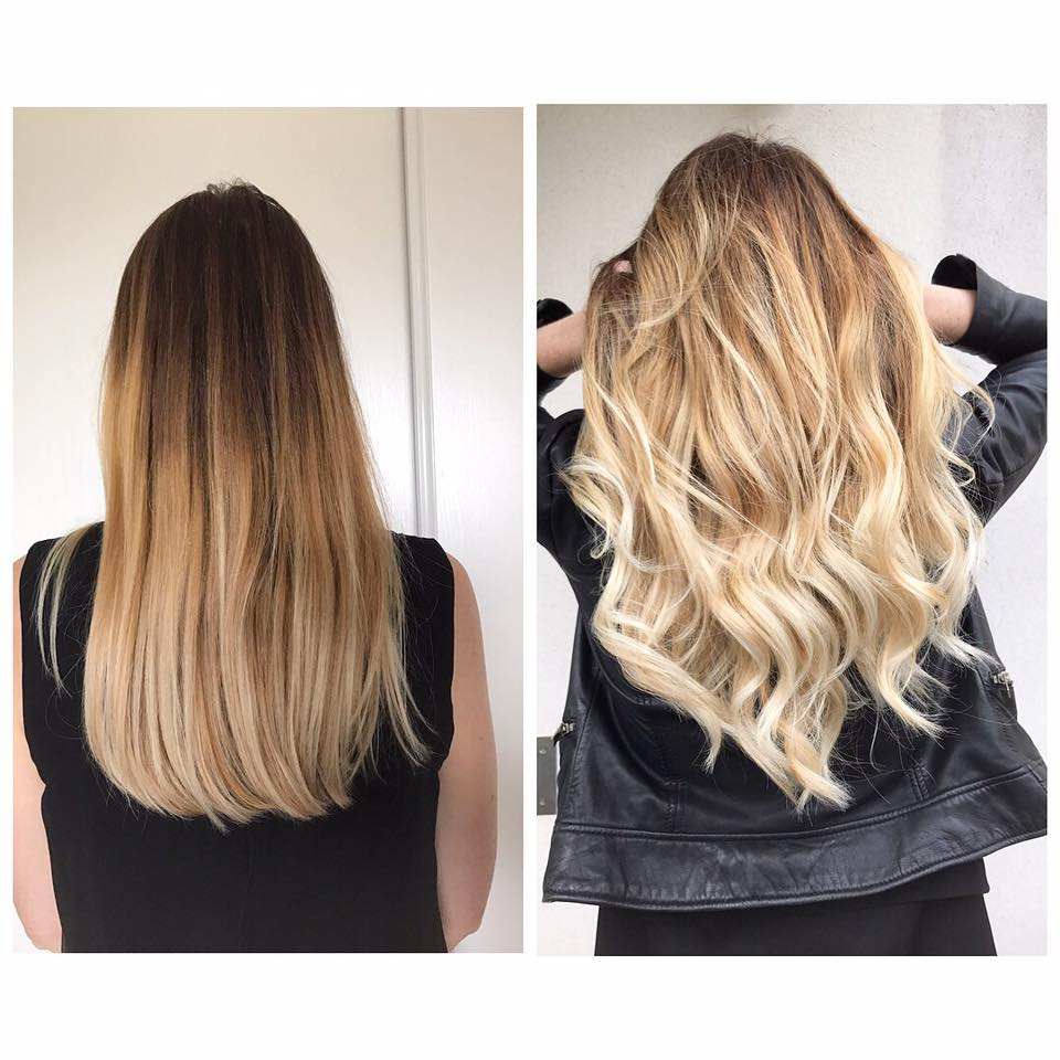 Coupe balayage blond beige