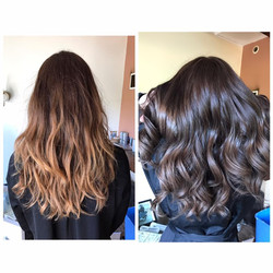 Coupe coloration soin profond