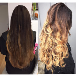 Coupe ombre hair gloss