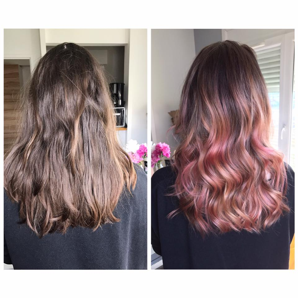 Ombré hair rose gold
