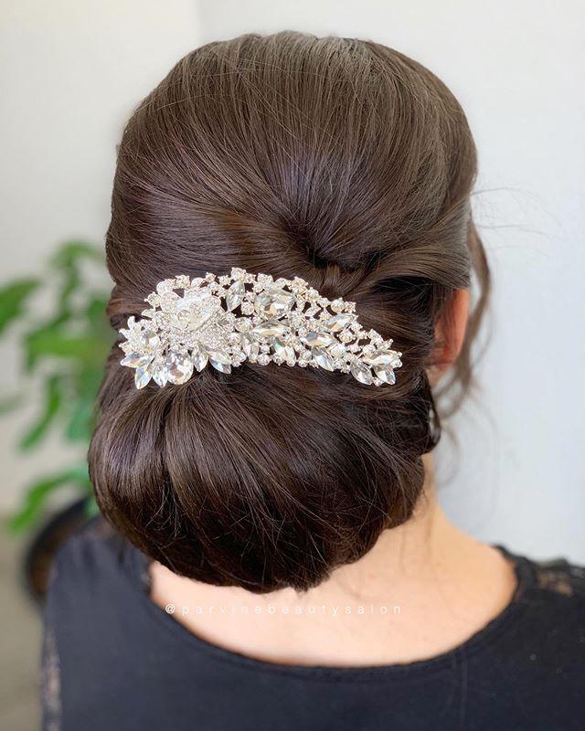 Beautiful bride 🕊 ✨#parvinebeautysalon_