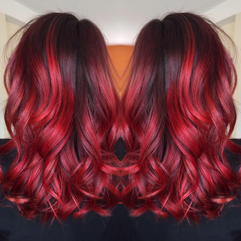 Coupe ombre hair rouge soin profond