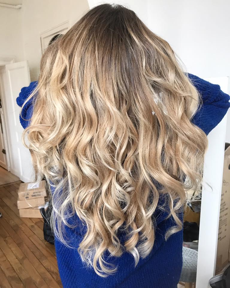 Balayage blond beige