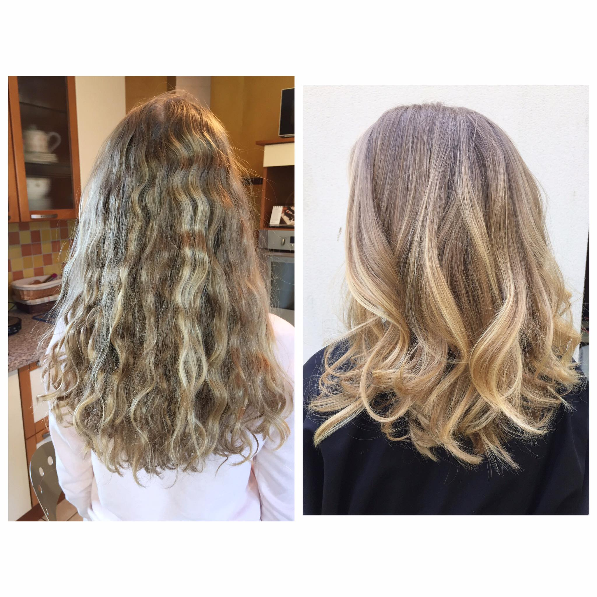 Coupe transformation balayage leger