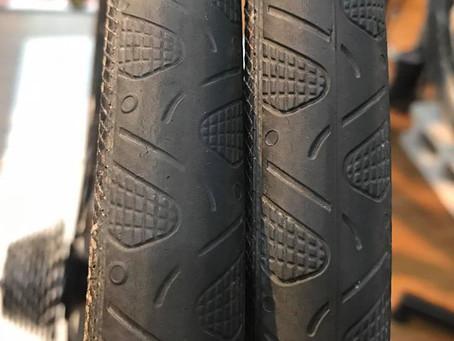 タイヤの消耗・・・・・