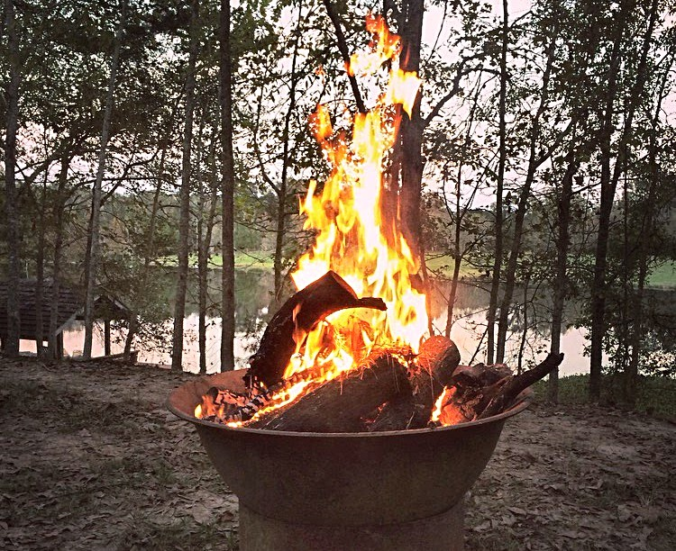 Sugar Kettle Fire Pit - Unique Sugar Kettle Fire Pit Overlooking The Lake