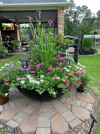 Lanscape Planter in Courtyard