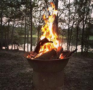 Elegant back yard cast iron fire pit