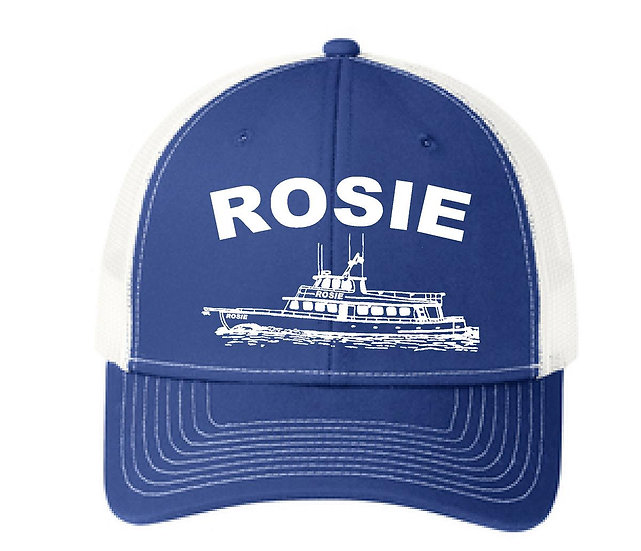 Blue and White Rosie Hat