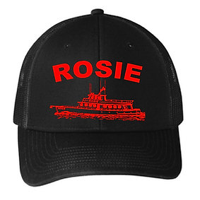 Black and Red Rosie Hat