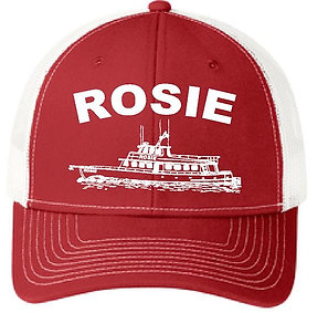 Red and White Rosie Hat