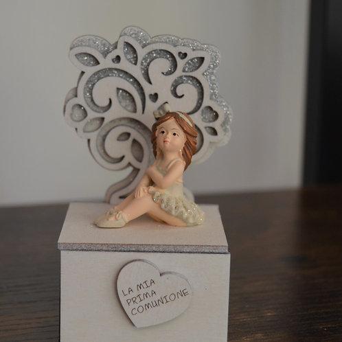 scatolina portaconfetti con ballerina