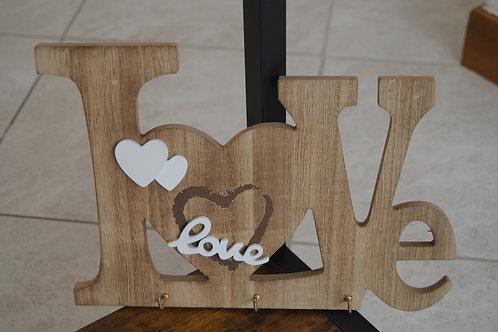 in legno con scritta