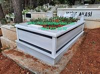 tek kişilik çif şeritli mermer mezar