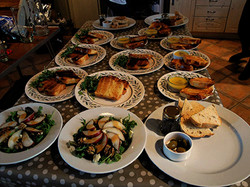 Starters ready for the dining room