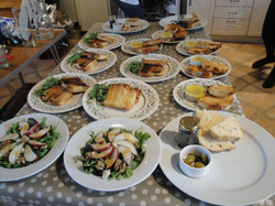 Starters ready to be served