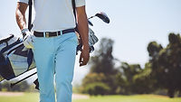 Golf player walking