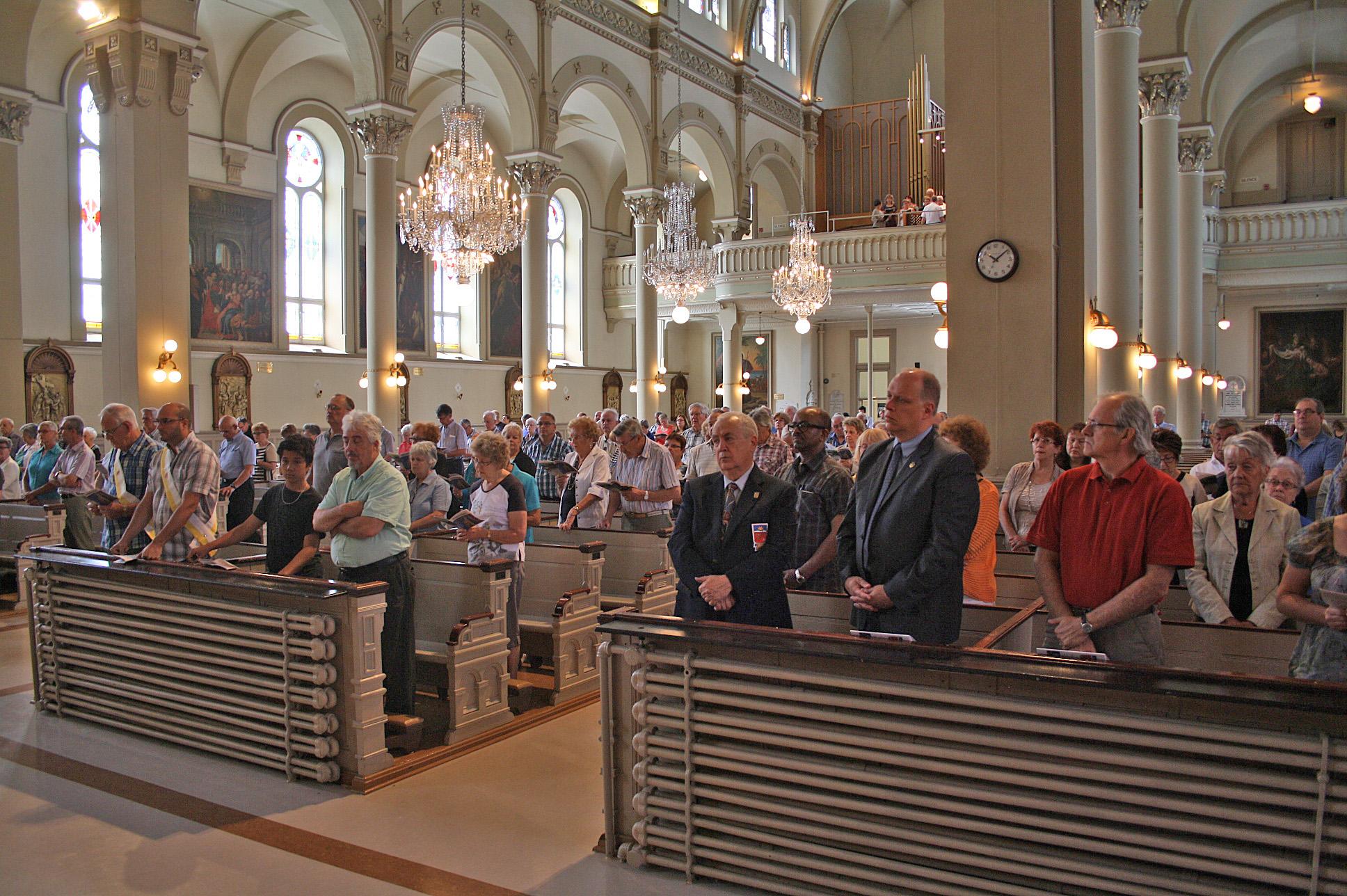 Messe à la basilique