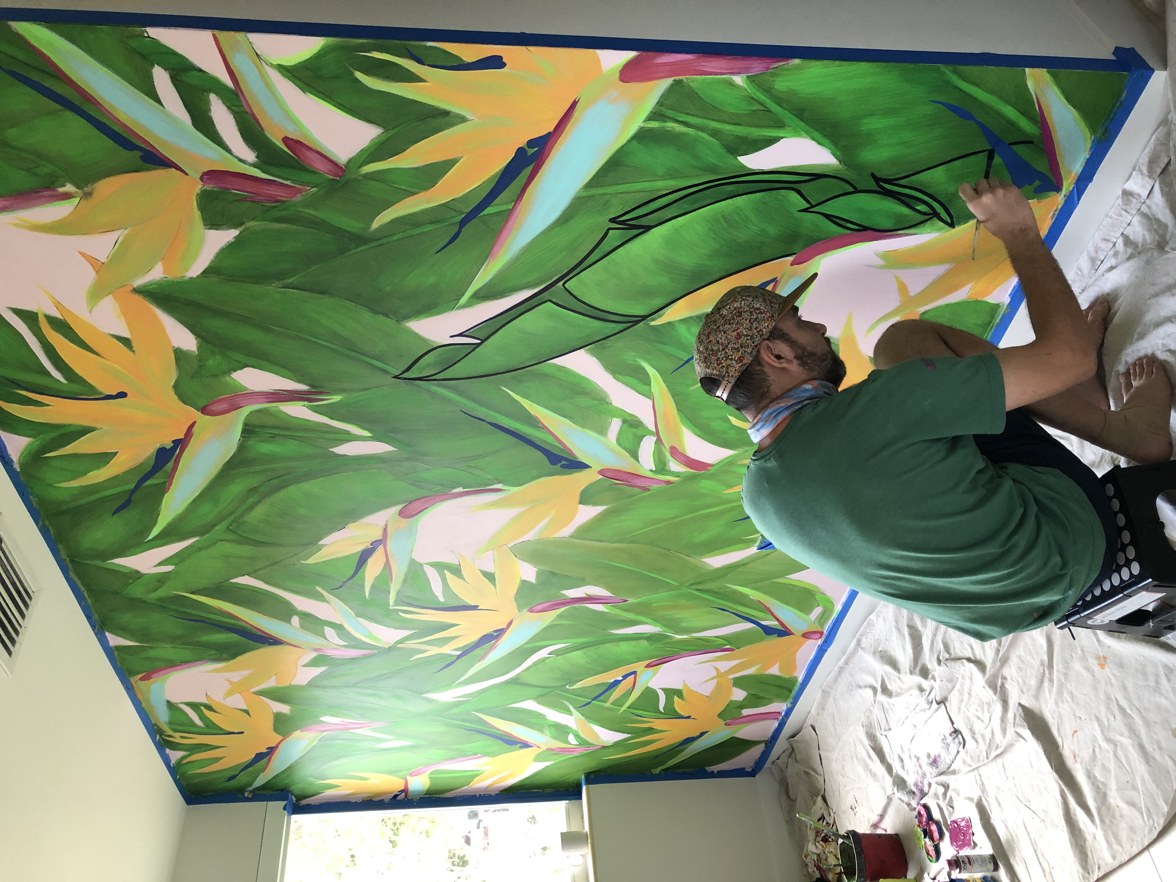 Bird of Paradise Mural