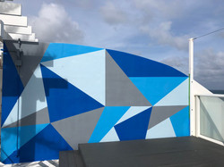 Modern Mural at Pool Cabana