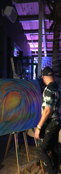 In progress live painting for charity event in Wynwood, Miami, FL by DaveL. 2021