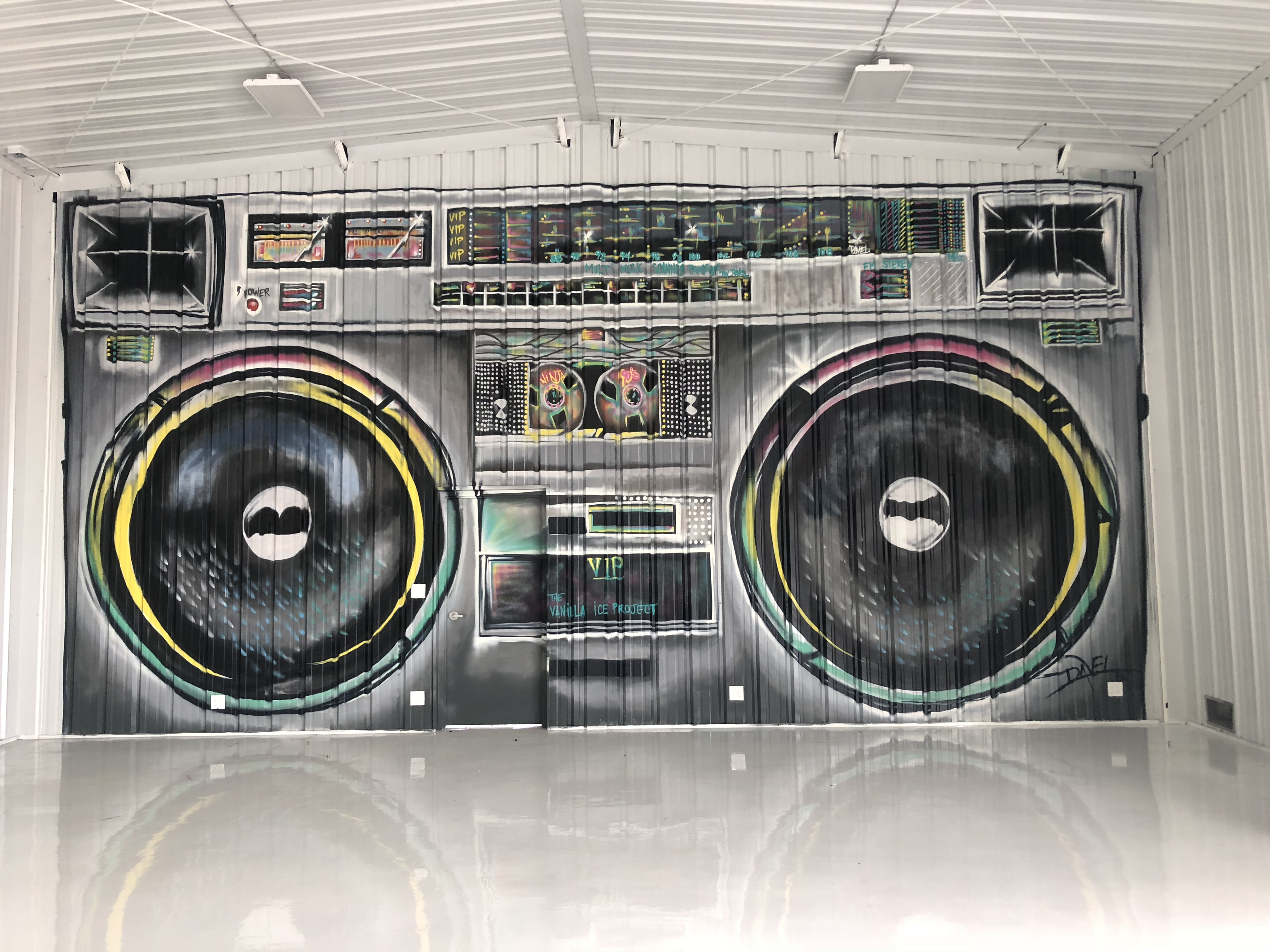 Boombox Mural Painting