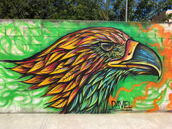 Golden Eagle Mural in Mexico