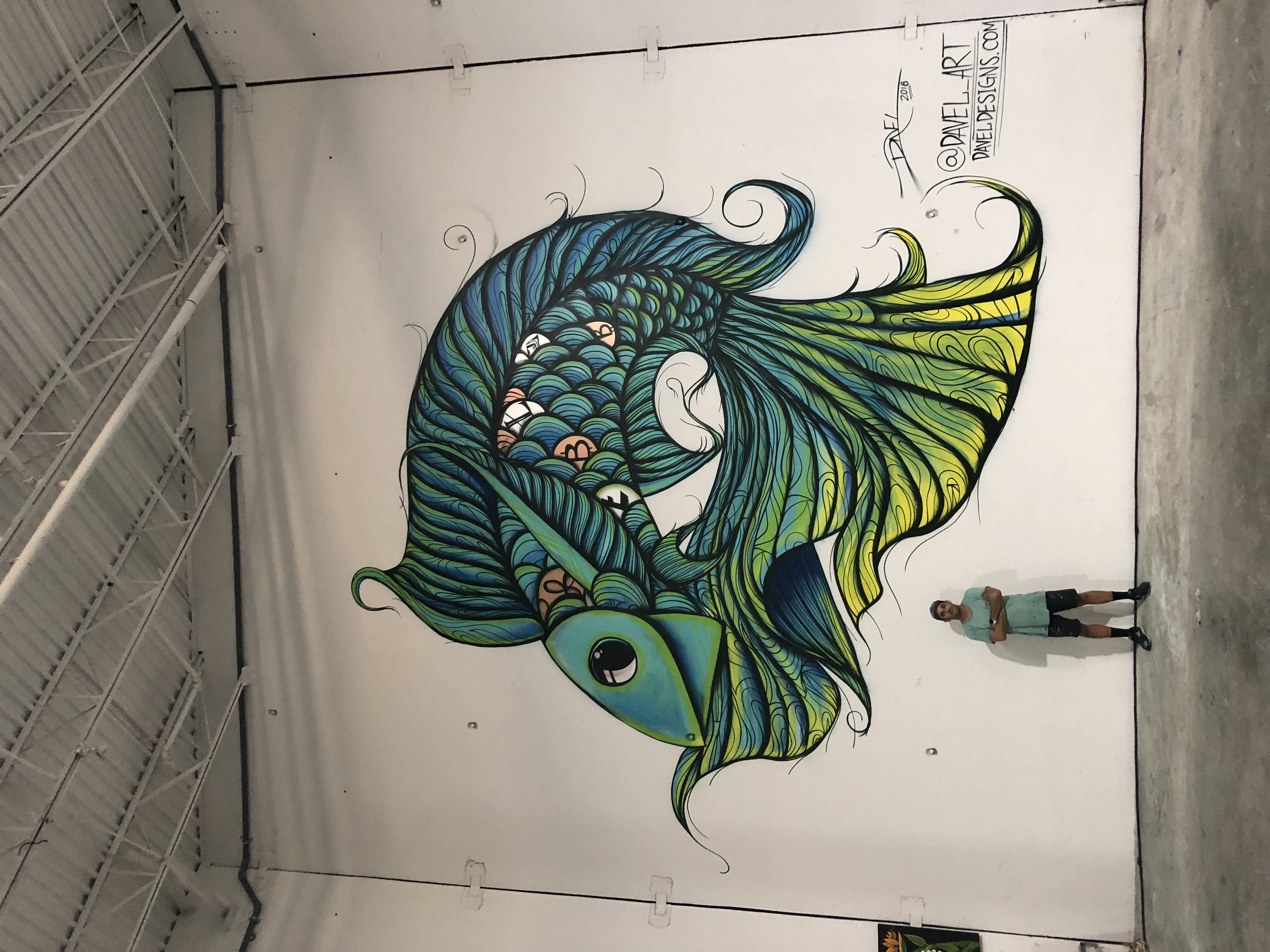 Fish Mural for Blockchain Event