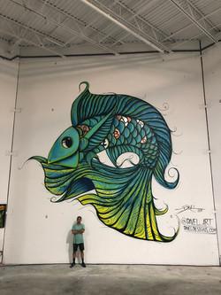 Fish Mural for Blockchain Event