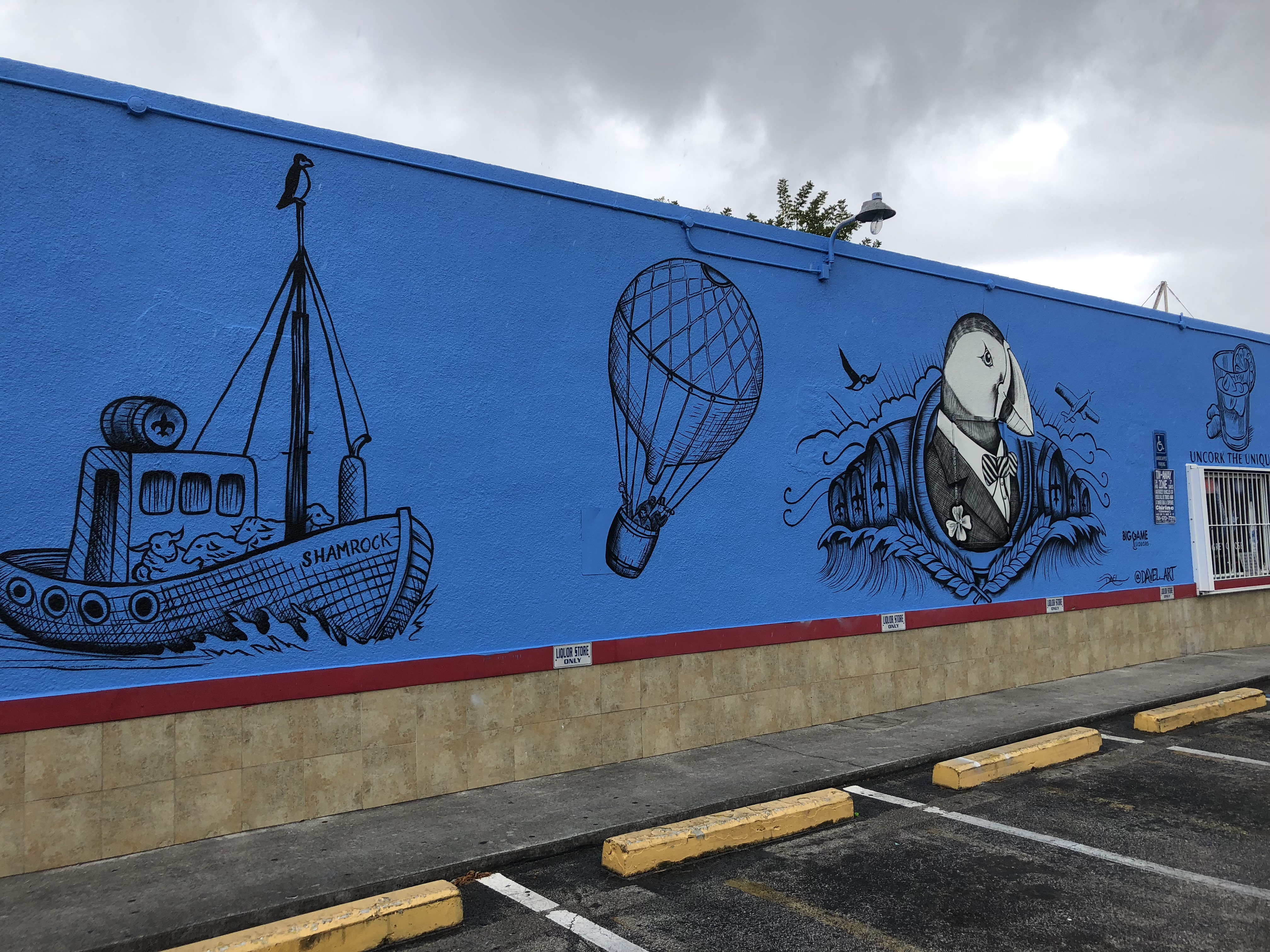 Mural Painting for Lambay Whiskey