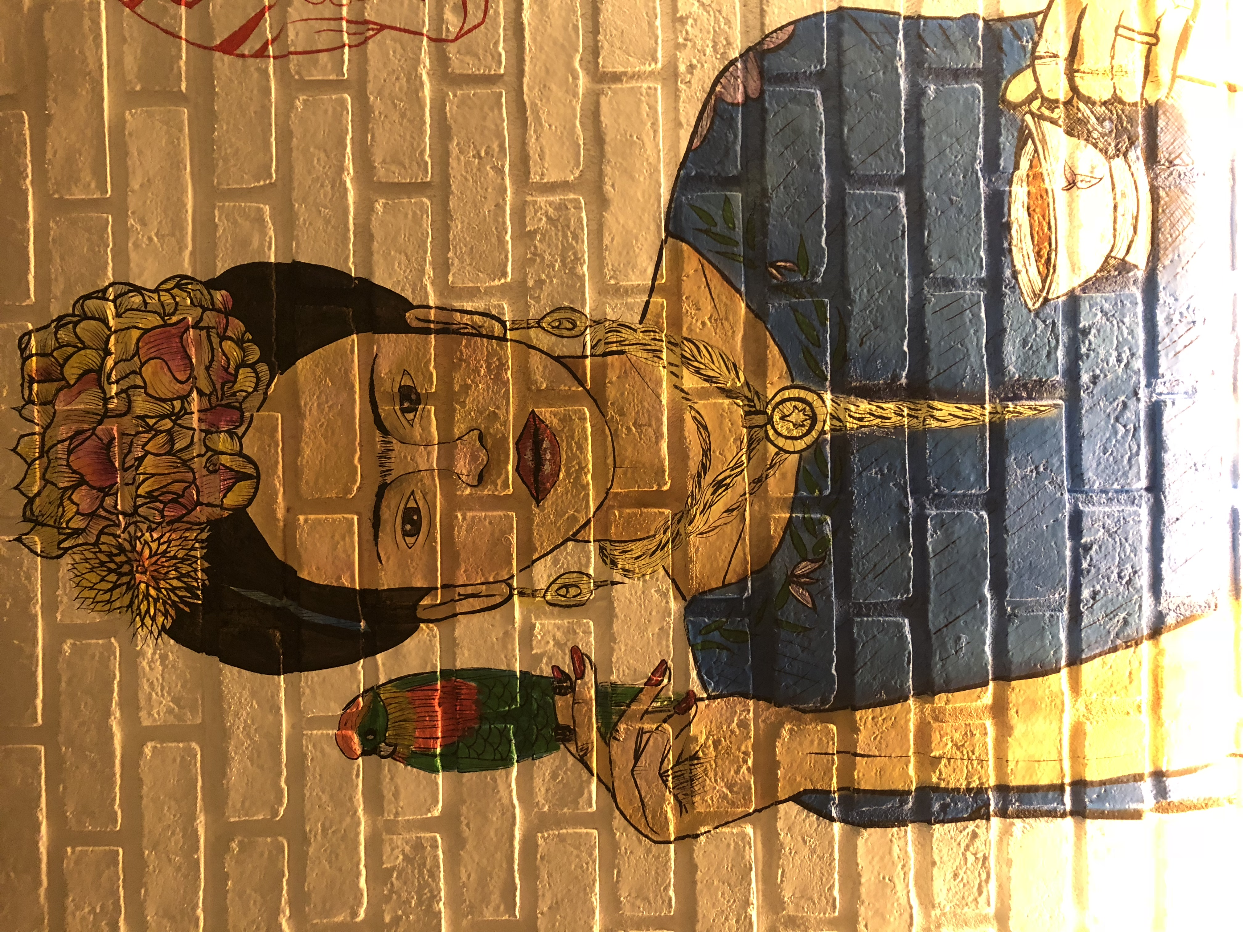 Frida Mural Painting for El Vez