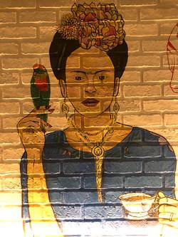 Frida Mural Painting for El Vez